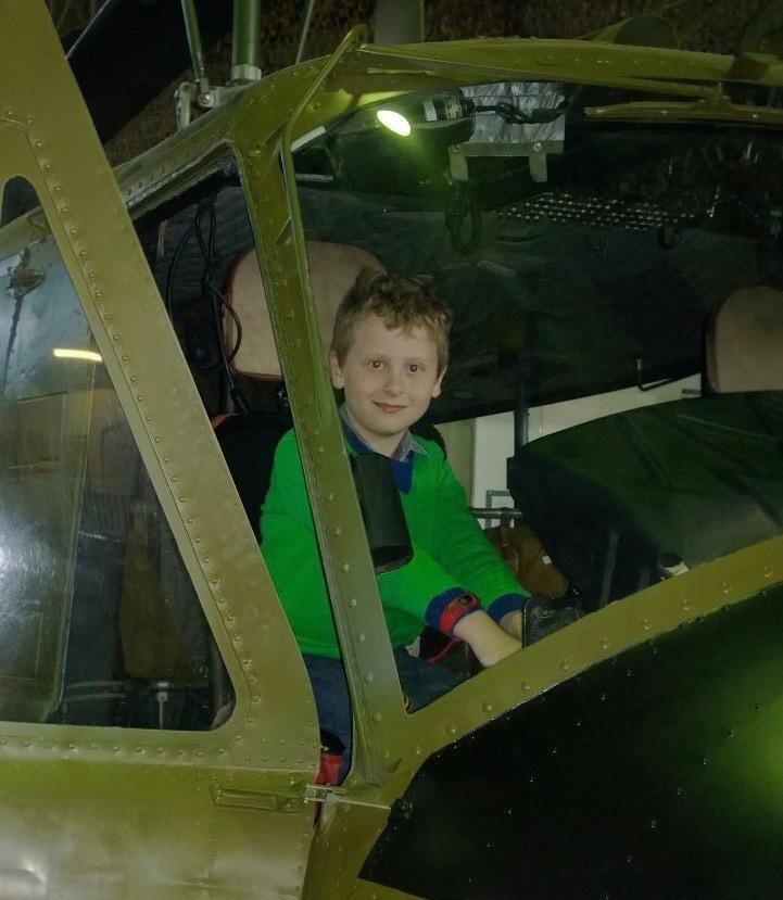 'Flying Officer' Lachlan Davey ready for lift off